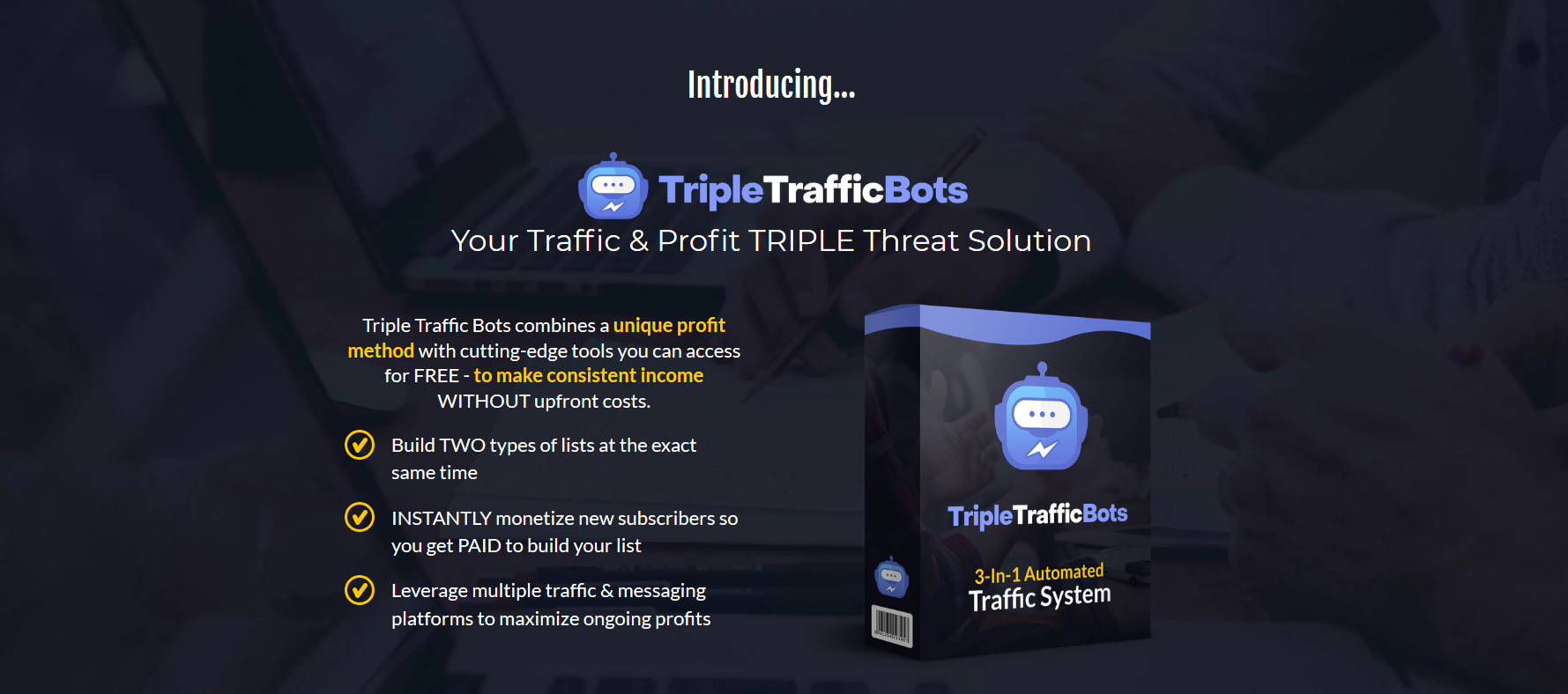 "Newbie Friendly Automated Traffic System... Bank 3+ Figure DAILY Profits With 100% FREE Tools Generate Traffic, Leads, Sales & Affiliate Commissions - USING 100% FREE TOOLS! ZERO Additional Costs! Instant Commissions As Early As Tonight! POST LAUNCH PRICE FREEZE ACTIVATED! ACTIVATE COUPON ""VIPFIVE"" TO SAVE $5 ===>> CLICK TO TURN THE SOUND ON & WATCH THIS VIDEO"